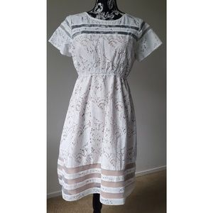 Motherhood Ivory Lace Lined Dress NWT